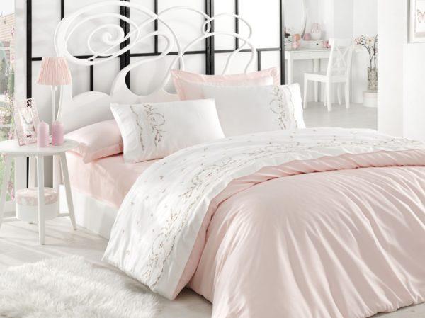 купить Постельное белье Dantela Vita Embroidered Buket Розовый фото