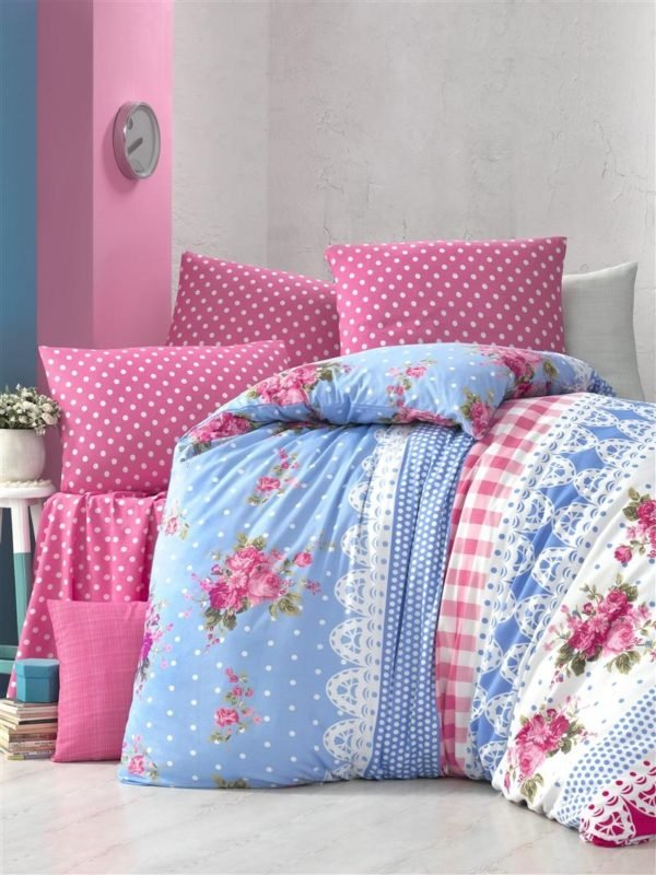 купить Постельное белье Elena ранфорс Garden Розовый фото