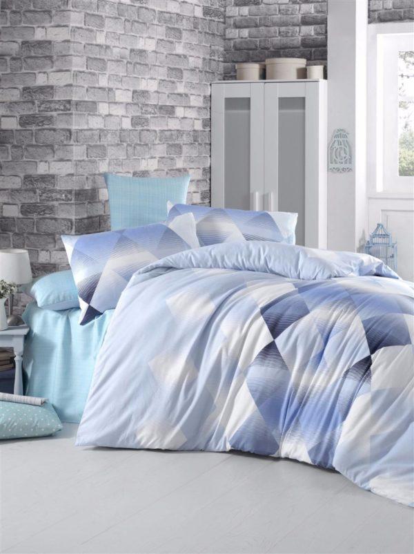 купить Постельное белье Elena ранфорс Petek blue Голубой фото