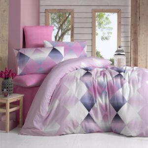 купить Постельное белье Elena ранфорс Petek pink Розовый фото