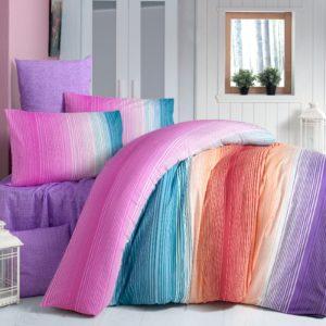 Постельное белье Elena ранфорс Rainbow 200×220