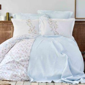 купить Постельное белье Karaca Home ранфорс Liana mavi 2019-2 Голубой фото