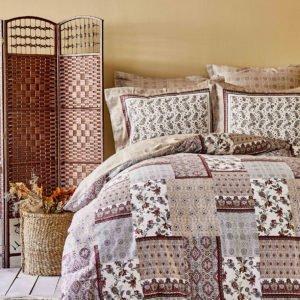 купить Постельное белье Karaca Home ранфорс Maryam bordo 2020-1 Коричневый фото