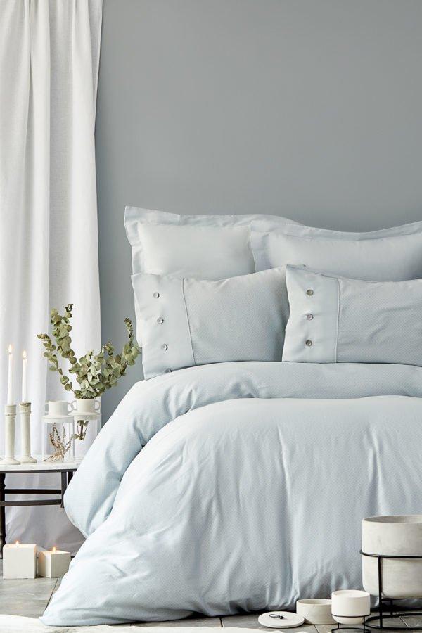 купить Постельное белье Karaca Home сатин Infinity a.mavi 2019-2 Голубой фото