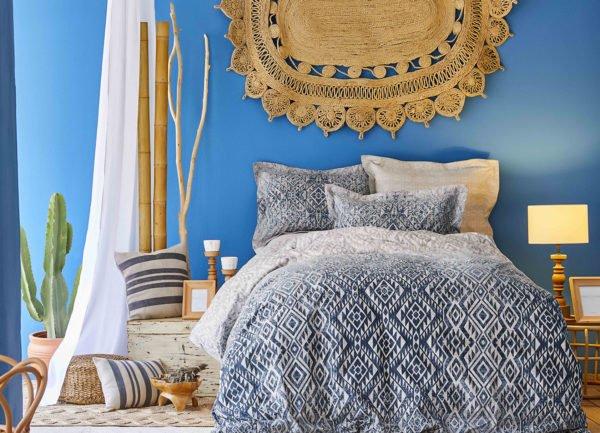 купить Постельное белье Karaca Home сатин Nitara mavi 2020-1 Голубой фото