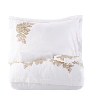 купить Постельное белье Karaca Home Privat Eva gold 2019-2 Белый|Золотой фото