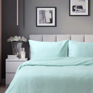 Постельное белье Lotus Отель Сатин Классик Ментоловый 200×220