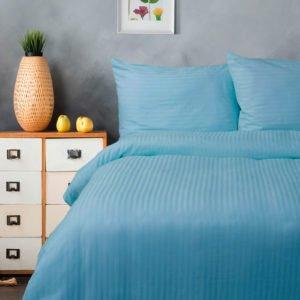 Постельное белье Lotus Отель Сатин Страйп 1*1 Голубой