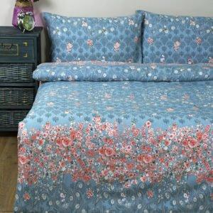 купить Постельное белье Lotus Ranforce Daniela Голубой Голубой фото