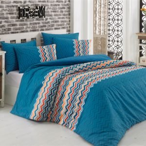 Постельное белье Majoli Essentiel Blue 200×220