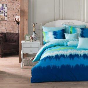 Постельное белье Majoli Vibe v3 Blue 200×220