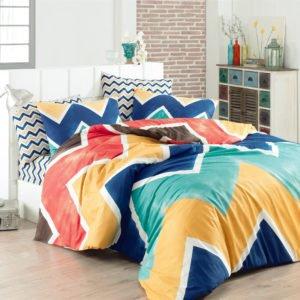 Постельное белье Majoli Zigzag Blue 200×220