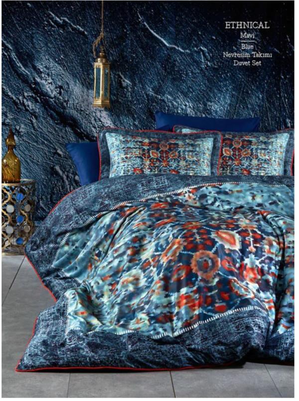 купить Постельное белье Marie Lou Gothica Ethnical Синий фото