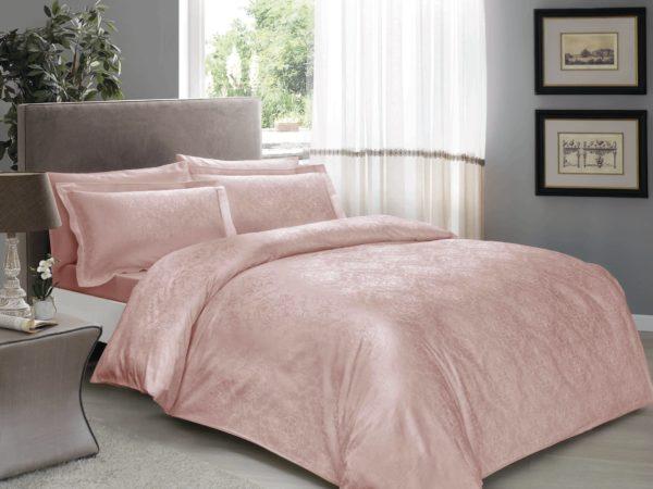 купить Постельное белье TAC жаккард Daria pudra Розовый фото