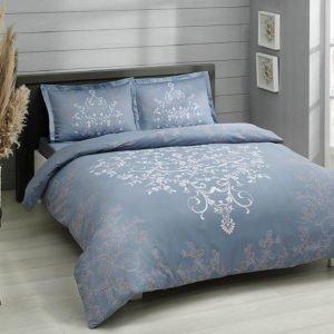 Постельное белье TAC сатин Anissa mavi v03 200×220