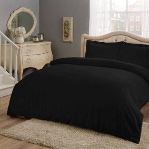 купить Постельное белье TAC Basic Black Сатин Черный фото