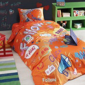 купить Постельное белье TAC Teen Blogger Ранфорс Оранжевый фото