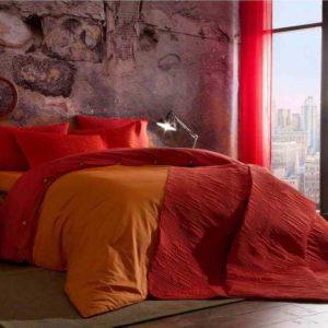 Постельное белье TAC Teen Colorful Orange Ранфорс 160×220