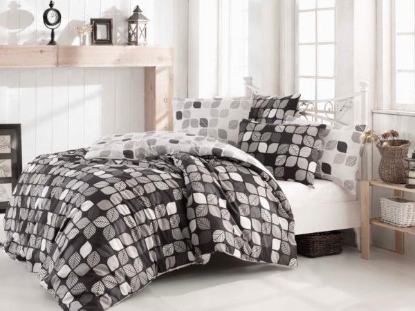 купить Постельное белье Zugo Home ранфорс Bunku V3 Серый фото