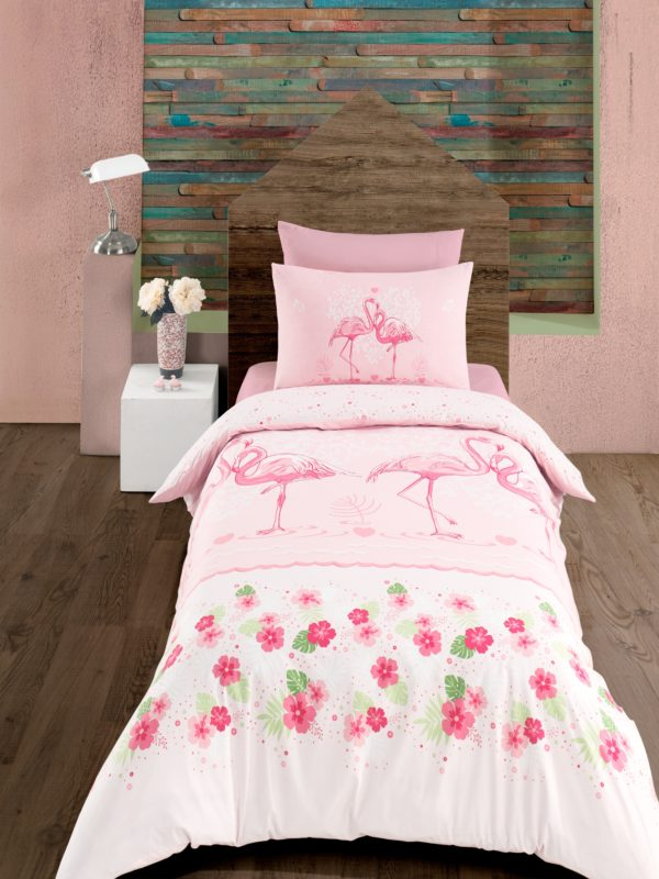 Постельное белье Zugo Home ранфорс Flamingo 160×220