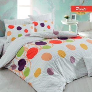 купить Постельное белье Zugo Home ранфорс Points V2 Оранжевый фото