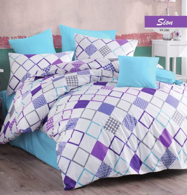 купить Постельное белье Zugo Home ранфорс Sion V4 Фиолетовый фото