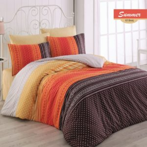 купить Постельное белье Zugo Home ранфорс Summer V2 Оранжевый фото