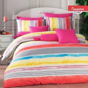 купить Постельное белье Zugo Home ранфорс Tempera V1 Оранжевый фото