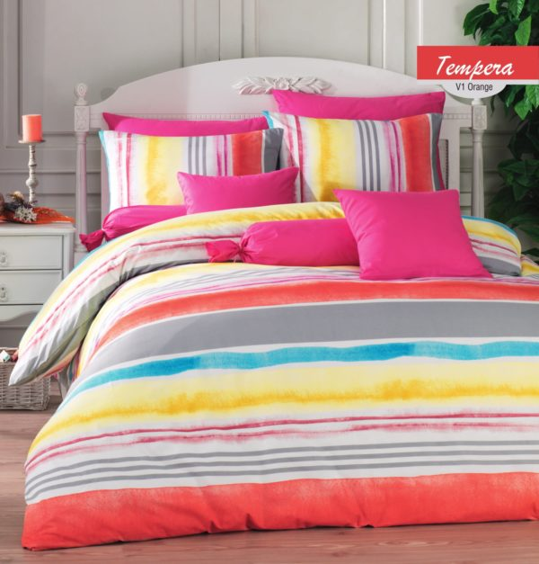 купить Постельное белье Zugo Home ранфорс Tempera V1 Розовый фото