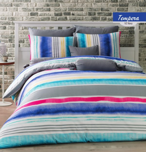 купить Постельное белье Zugo Home ранфорс Tempera V2 Синий фото