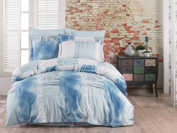 купить Постельное белье Zugo Home сатин Arcadia V3 Голубой фото