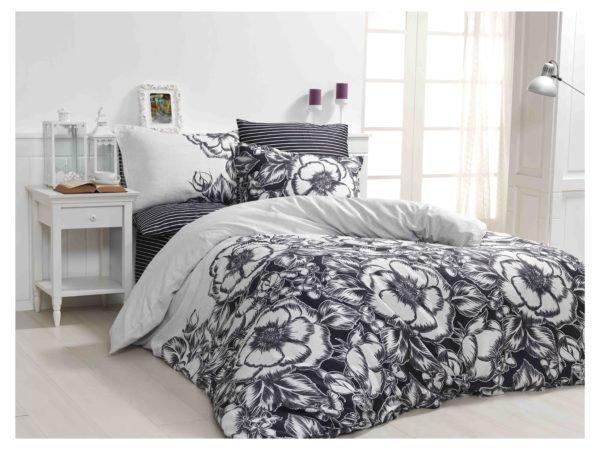 купить Постельное белье Zugo Home сатин Marjorie V2 Серый фото