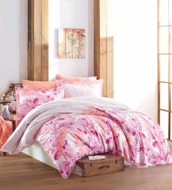 купить Постельное белье Zugo Home сатин Roma V1 Pink Розовый фото