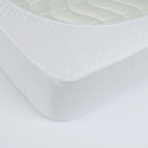 купить Простынь махровая на резинке Rosella Basic Light Белая Белый фото