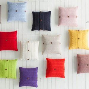 Подушка Karaca Home – Summer Triko фиолетовая 45×45