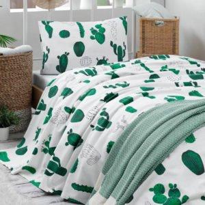 Покрывало пике Eponj Home – Kaktus yesil 160×235