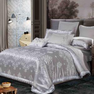 Постельное белье Bella Villa Сатин-Жаккард J-0022 Eu 200×220