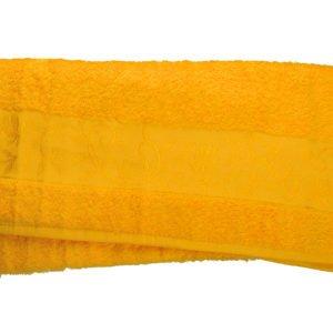 купить Махровое полотенце ТМ Hanibaba бамбук желтый  фото