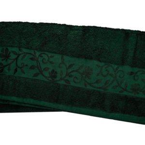 купить Махровое полотенце ТМ Hanibaba бамбук темно-зеленый  фото