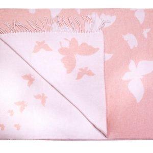 купить Плед хлопковый Love You бабочка розовый Розовый фото