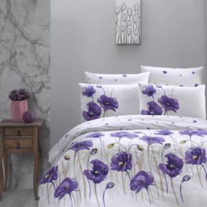 купить Постельное белье First Choice De Luxe ранфорс bozca lila Фиолетовый фото