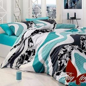 купить Постельное белье TAG R6958 blue Бирюзовый фото