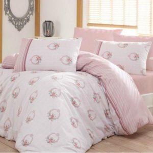 купить Постельное белье Arya Ранфорс Miranda Лиловый|Розовый фото