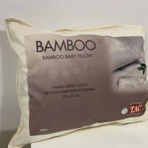 купить Детская подушка микрогелевая с бамбуком TAC Белый фото