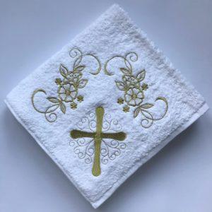 купить Крыжма для крещения Sikel золото Белый фото