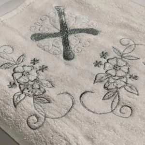 купить Крыжма для крещения Sikel серебро Белый фото