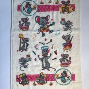 купить Кухонное полотенце Melih Мышка бирюзовое Розовый фото