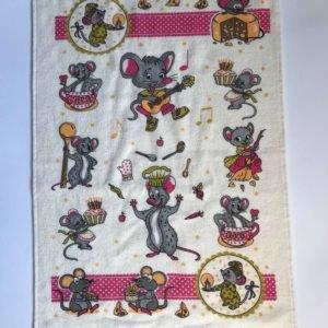 купить Кухонное полотенце Melih Мышка горчичное Розовый фото