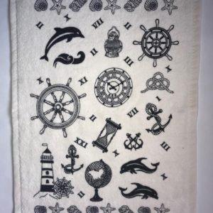 купить Кухонное полотенце Melih махра Marine items Серый фото