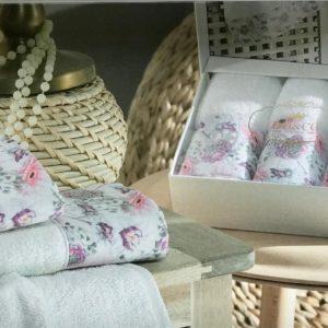 купить Набор махровых полотенец Do & Co Гвоздика 3 шт Лиловый фото